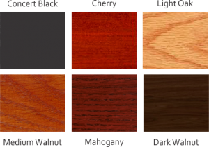 Choose from 6 different wood finishes.